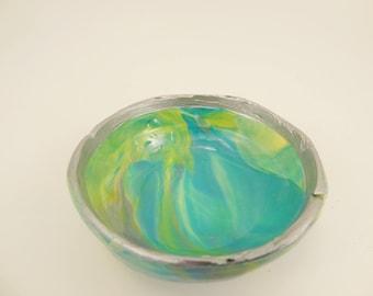 Groovy Polymer Clay Mini Bowl