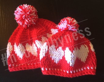 Beanies / Slouchy / Hat / Crochet Hat / Accessories / Fall Hat / Winter Hat / Valentine's Day