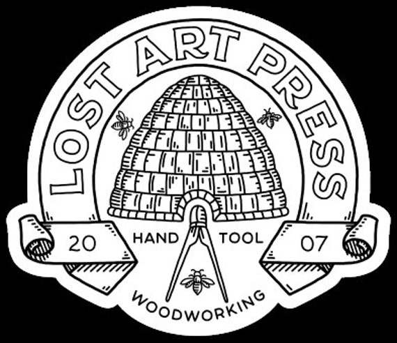 Lost Art Press Stickers (set of three)