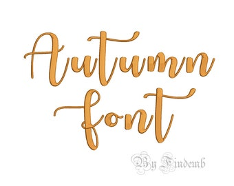 Autumn Embroidery Font Designs 4 size Instant Download
