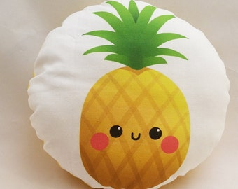 "Cute Pineapple 10"" Cotton Pillow"