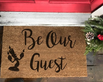 Front Doormat ( Be our Guest)  beauty and beast door mat