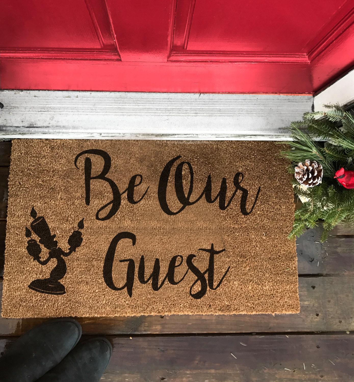 front door matsFront Doormat Be our Guest beauty and beast door mat