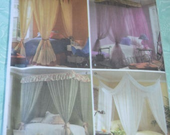 Simplicity 4532  Canopies for Twin or Full Sized Beds Pattern - UNCUT