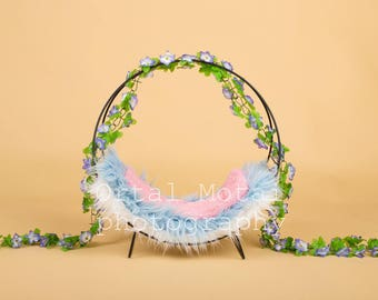 digital newborn backdrop, digital backdrop, newborn prop,newborn digital wreath, Digital download, digital nest, Instant Download, newborn