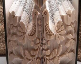 Dutch Birds and Tulips Book Folding Pattern