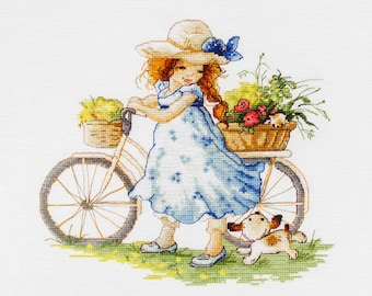 Counted Cross Stitch Kit Take a Ride Counted Cross Stitch Luca-S