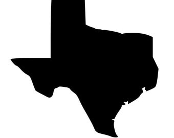 State of Texas outline laptop cup decal SVG Digital Download Cuttable Files Cricut Silhouette