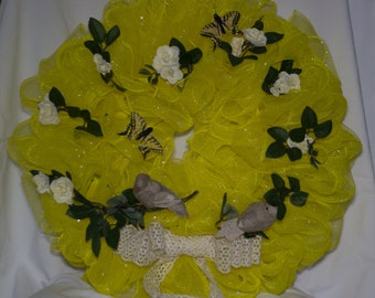 Spring Canary Yellow Wreath