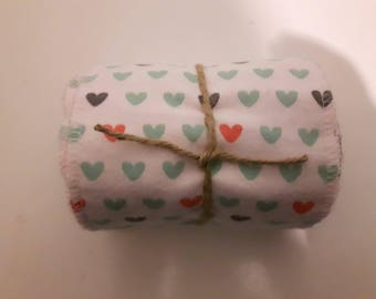 Soft washable and reusable toilet paper roll