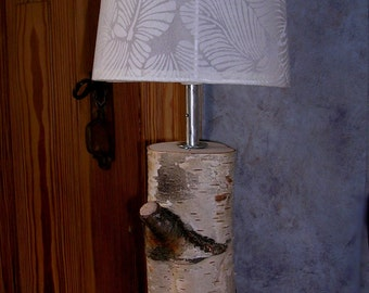 "Table lamp made of birch ""Rovaniemi"" small"