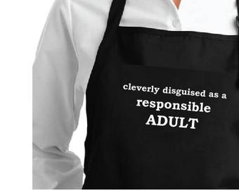 Apron cleverly disguised as a responsible adult