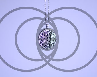 flower of life pendant Alloy Silver color