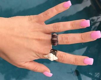 Open back adjustable ring