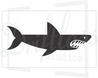 Shark Stencil, Cartoon Shark Stencil, Kids Room Stencil