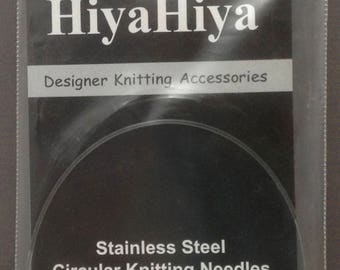 """HiyaHiya Stainless Steel Circular Knitting Needles NEW US 0 / 2mm / 9"""" ~ With Barbie Doll Dress Pattern"""