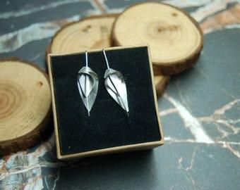 Silver 'Flourish' medium earrings
