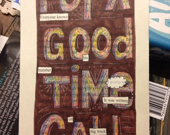 Blackout Poetry - For A Good Time Call (Dealing with Blue) - Art and a Donation to AHA