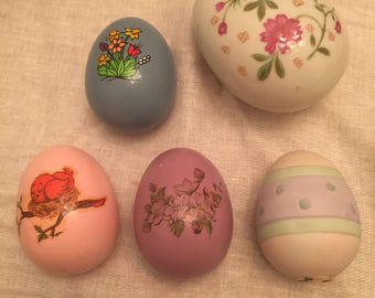 Just in time for Easter - A Collection of ceramic and porcelain eggs