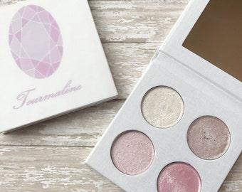 Pressed eyeshadow palette - October birthstone - Tourmaline