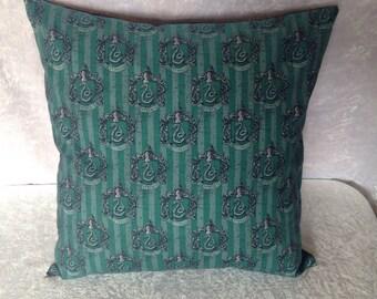 Handmade Harry Potter Slytherin House Hogwarts 16 Inch Cushion Cover