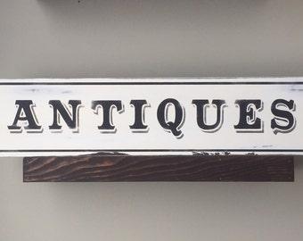 Antiques sign Antiques wood sign Farmhouse Sign Rustic signs Farmhouse Antiques Sign Fixer Upper Vintage Antique Sign Antique wall decor