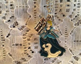 Cinderella Pendant Charm Necklace