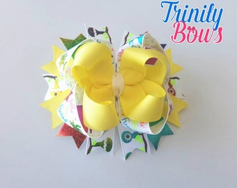 Hello Friend - Twisted Boutique - TBB - Large bow - Rainbow - Yellow - USDR