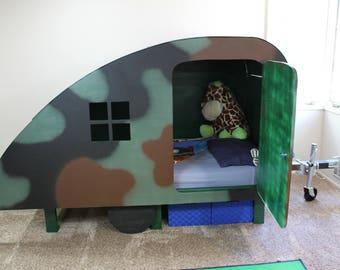 Custom Kids Bed / Custom Girls Bed / Custom Boys Bed / Kids Bed Frame / Kids Handmade Bed / Kids Bed Frame Plans / Childrens Bed / Camper