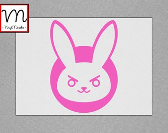 Overwatch D.Va Bunny Spray - Permanent Vinyl Decal/Sticker