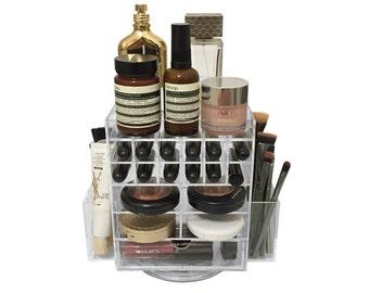 Mini Lipstick spinning tower lipstick brush comapact holder makeup organiser