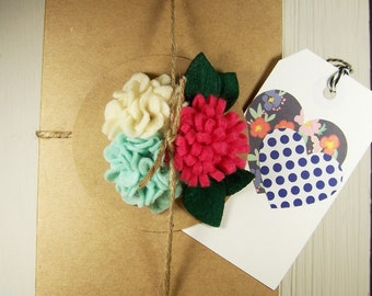 Gift Wrapping Box With Gift Tag