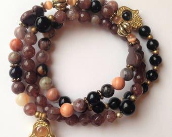Bohemian Stacking Bracelets in Gold