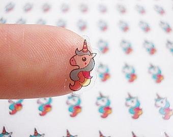CLEAR Planner Stickers, Unicorn Head Planner Stickers, Unicorn Planner Stickers, Unicorn Stickers, Erin Condren Planner Stickers (st124#)
