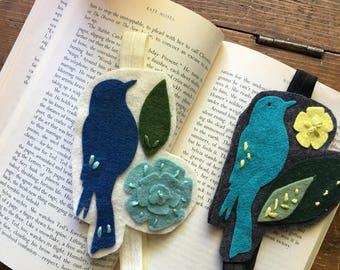 Wool Felt Bird Bookmark Bundle