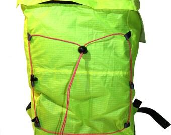 Ultralight backpack yellow