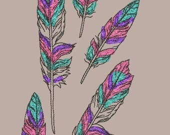 Embroidery Design, дизайн вышивки, feathers, перья, plumage, перо, bird, птица, Dreamcatcher, ловец снов, embroidery on clothing, на одежде