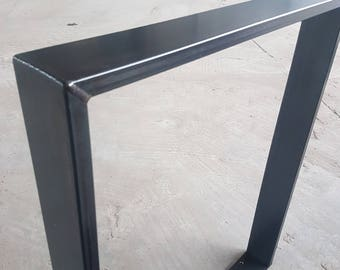 Table frame steel table frame 73-80 cm clear coat industrial design 1 few 80-20