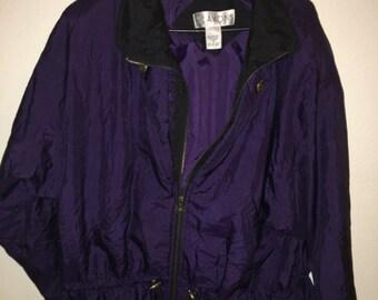 Large purple and black Lavon windbreaker