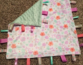Personalized Sensory Baby Tag Blanket