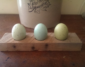 Rustic Pallet Wood Easter Egg, Ornament, and Candle Holder Display