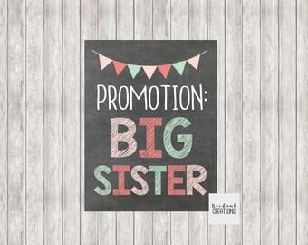 Digital Promotion Big Sister | Promoted to Big Sister | Pregnancy Announcement | Baby Announcement