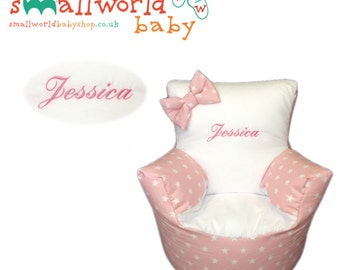 Personalised Pink Star Toddler Bean Bag Chair