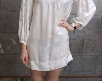 Vietnamese Silk Smock Dress