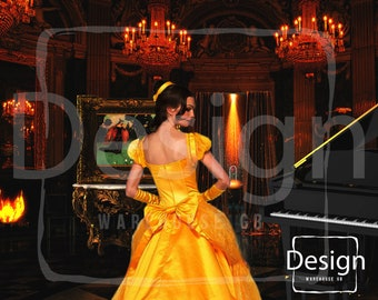 Set of 2 Beauty and the Beast Digital Backdrop Princess Photography Backdrop Beauty and the Beast Background Belle Photography Prop Castle