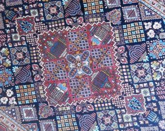 Very old persian rug kashan 7.3 × 4.6 ft 220 x 136 cm