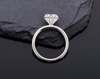 """Handmade 925 Silver with """"Kimroy"""" ring the one-carat stone / / gifts for you / / gifts for girlfriend //Romantisches gift"""