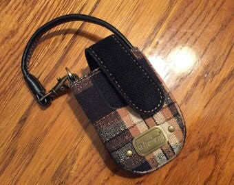 Longaberger Plaid Cell Phone/Cigarette Case Never Used