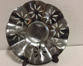 Vintage Stainless Handwerks Dish From Holland Signed