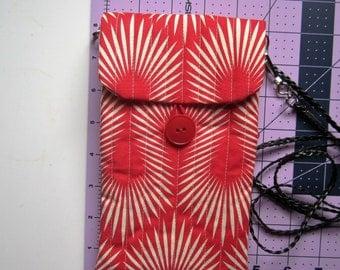 Fabric crossbody phone bag